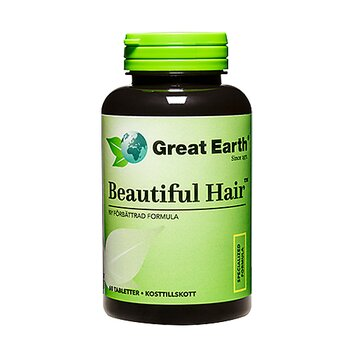 Great Earth Beautiful Hair, 60 tabletter