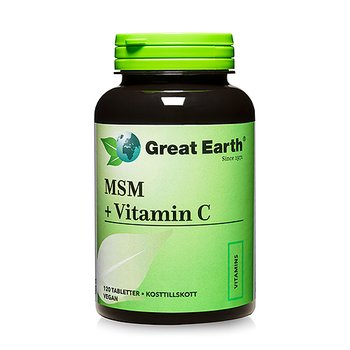 Great Earth MSM + Vitamin C - Great Earth, 120 tabletter