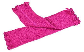 Pehmeät ranteenlämmittimet villaa, pinkki