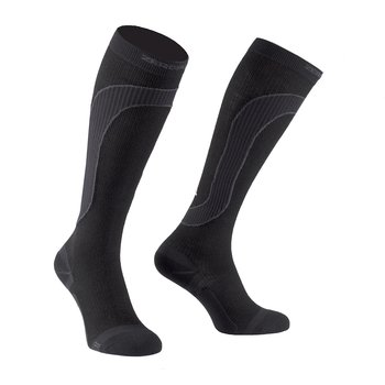 ZeroPoint Merino Wool Compression Sock, svart