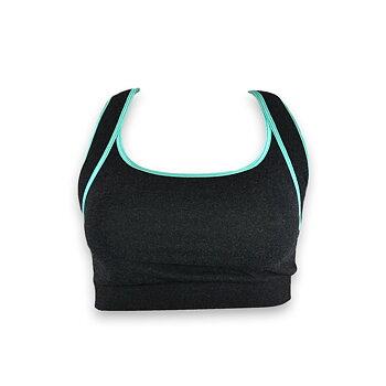 Improve ME sport BH, gråmeleret/Aqua Azzurra