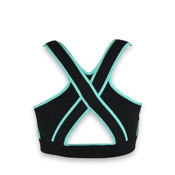 Improve ME sport bh, gråmelange/Aqua Azzurra