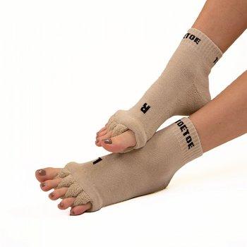 ToeToe Health teenscheider-sokken, Beige