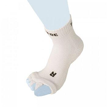 ToeToe Health teenscheider-sokken, Crème