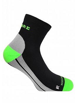 Ankelhøye kompresjonsstrømper, grønn og svart