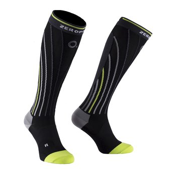 ZeroPoint Pro Racing Compression Sock, svart gul