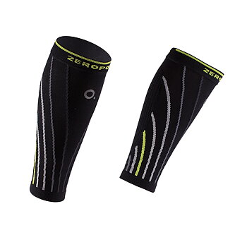 ZeroPoint Pro Racing Compression Calf Sleeve, sort/gul