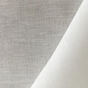 Half-linen 150x50 cm bleached white 180g/m2