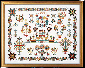 Dutch Sampler  Eva Rosenstand cross stitch embroidery no 12722