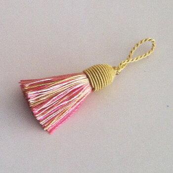 Tassel Boudon 5,5 cm Pink/Gold 174