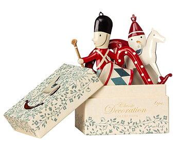 Ornament box, 6st julhänge i metall classic, från Maileg