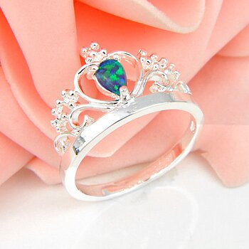 Silver FILLED RING Fire Opal