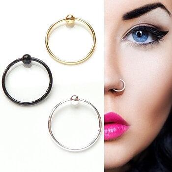 925 Sterling Silver Gold Nose Pin Bone Stud Nose Piercing 10mm 0