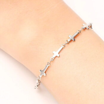 316L Stainless steel Bracelets Cross