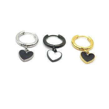 Hoop Earring Heart  Piercing  Earring