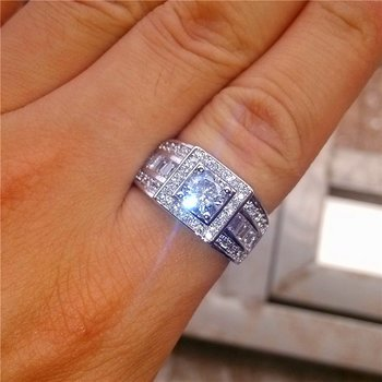 Silversmycken filled RING Cubic Zirconia