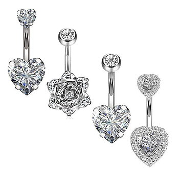 Navel Piercing 4 pcs/set