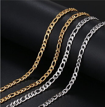 Stainless steel necklace 5*500mm