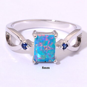 Silversmycken filled ring Brand Opal