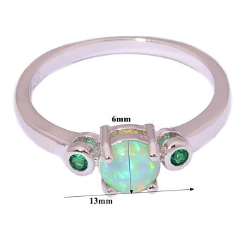 Silversmycken filled ring Brand Opal