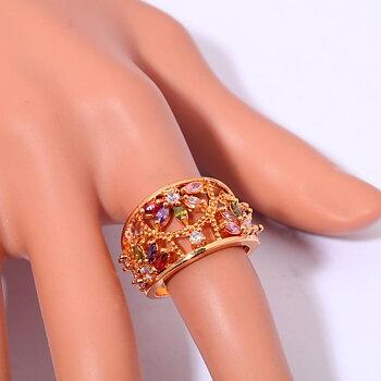 14K Guldfyllda Guld Filled gulddoublé Ring CZ