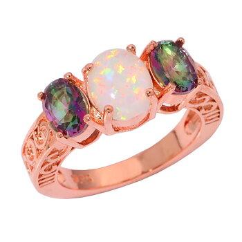 14K Guldfyllda Guld Filled gulddoublé Ring OPAL