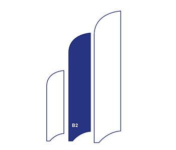 Beachflagga B2