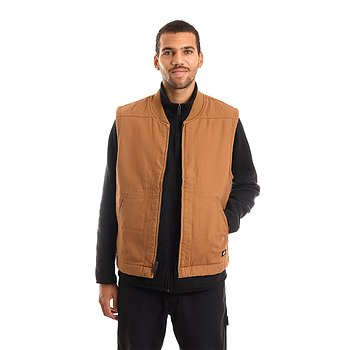 Dickies - Sherpa lined duck vest - Brown duck