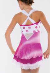 Klänning i rosa och vitt