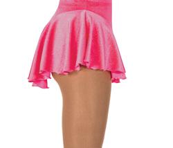 Rosa rynkad kjol i glittersammet