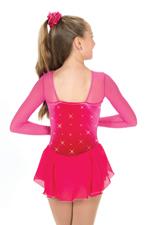 Rosa klänning med kristaller