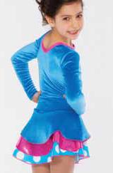 Turkos klänning i glittersammet