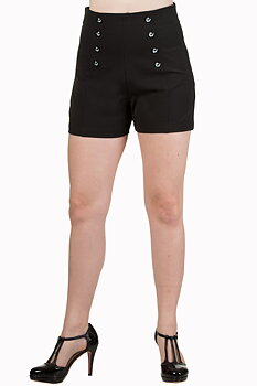 Banned Apparel - Black Stay Awhile Shorts