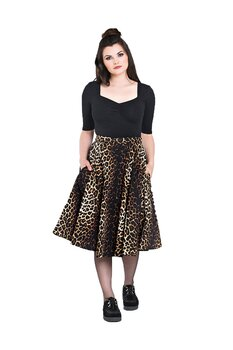 Hell Bunny - Panthera Leopard 50's skirt