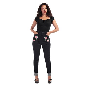 Collectif - Becca Rose Black Jeans