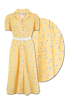 Rock N Romance - Charleen Yellow Abstract Heart Print Dress