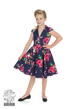 Heart & Roses - Navy Midnight Garden Flora Kid Dress