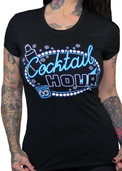 Pinky Star USA - Black Cocktail Hour Tee