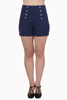 Banned Apparel - Navy Stay Awhile Shorts