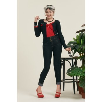 Collectif - Rebel Kate Denim Trousers Navy