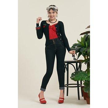 Collectif - Rebel Kate Denim Trousers Navy