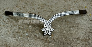 Opux® Pannband 'Tristan', brun/silver