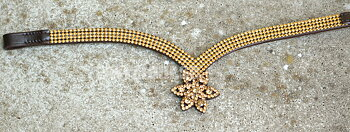 Opux® Pannband 'Tristan', brun/guld