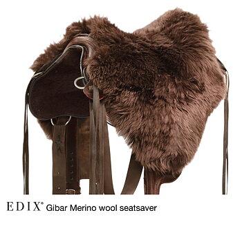 EDIX® Gibar Seatsaver / sadelsits (bomlösa sadlar), äkta Merinoull, brun