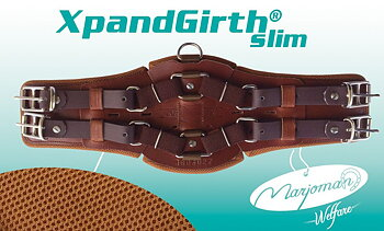 XpandGirth® Dressage Girth 'SLIM' (bl.a. ponnies) - läder
