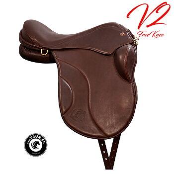NY SADEL! Taur Gaiter Dressage V2, chocolate / havanna