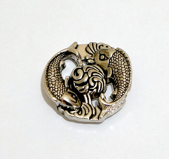 Japanese Lucky Fish Concho 30 mm