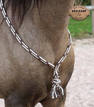 Halsring / cordeo Brockamp (tre storlekar), brun/vit
