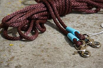 Långtygel Opux® (för markarbete), brun/babyblue, 6 m