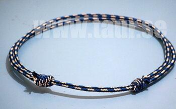 Brockamp Halsring (styv), blå / natur / svart